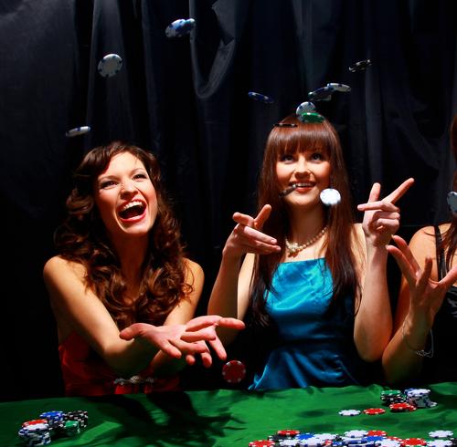 damer älskar kasinon